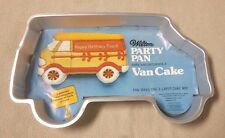 1978 WILTON Party Pan VAN CAKE Mold Tin MYSTERY MACHINE Ambulance w/ Insert MINT