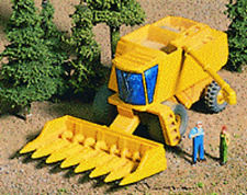 Magnuson Models HO Scale Combine With Corn Head #439-948