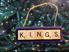 Sacramento Kings Scrabble Tiles Ornament Handmade Holiday Christmas Basketball