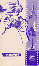 1960s USSR Russian Intourist travel Rules for Photographing Filming Censorship