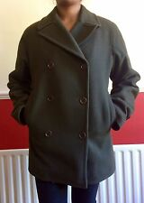 Calvin Klein Boxy Hip Length Wool Coat Size XS, But It's More Like S