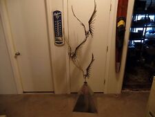 "Curtis Jere Flying Birds Sculpture Signed 1976  68"" tall"