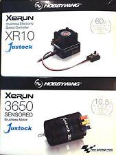 Hobbywing Xerun Combo XR10-JS2-negro, 3500kV 10,5T 1:10 (2-3S) HW060020