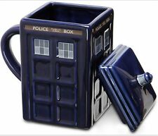 17oz. Doctor Who Tardis Mug With Lid Police Box Ceramics Mug Coffee Mug Tea Cup