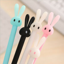 4stk Kawaii 0.38mm Gel Schwarze Tinte Roller Ball Point Pen Schreibstift Hase