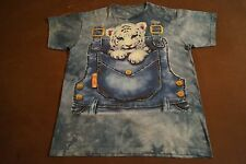 White Tiger Baby T-Shirt Size L Used