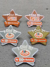 New Home Depot kids workshop i did it  Lapel Pin