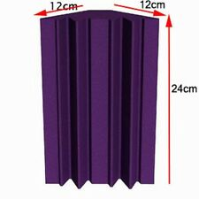 12 PCS Purple Acoustic Studio Foam On Corner Wall Soundproof Foam