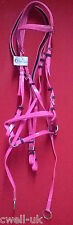 New BIOTHENE ** Cross Over ** Bitless  Bridle with web grip reins - FULL (PINK)