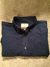 Navy Blue Cabellas Outfitter Series Long Sleeve Shirt - Large