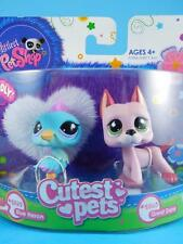 Littlest Pet Shop LPS - Pink Great Dane Puppy Dog #2583 - Blue Heron Bird #2582