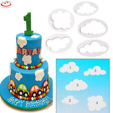 5pcs Clouds Cake Baking Tools Fondant Biscuit Cutter Decorating Cookie Mould