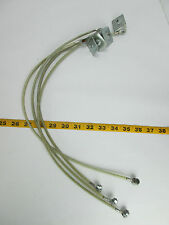 """Lot of 4 Grounding Cables Plastic Coated Mounting Tab 20-1/2"""" Long Strap Tie T"""