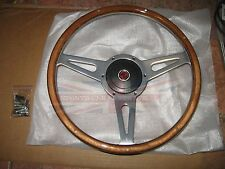 "New 14"" Wood Steering Wheel and Adaptor for MGB 1970-1976 MG Midget 1970-1977"