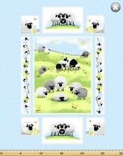 "Susybee LEWE the EWE Sheep Panel Quilt Fabric ~ Approx. 35"" x 44"""
