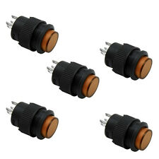 5X16MM Momentary push button switch with Yellow LED lighting 4Pin 3A  Cheap