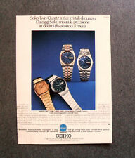[GCG] I798 - Advertising Pubblicità -1979- SEIKO TWIN QUARTZ