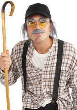 Old Man Disguise Kit/Glasses/Hat/Eyebrows/Moustache