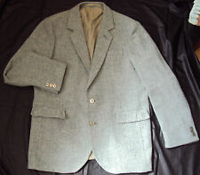 "German Tweed  Jacket ~Pale Green Single Vented ~ size 44""- Town & Country Style"