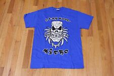 DMK STAY KOOL WHEN YOU SEE A MICRO GRAPHIC TEE BLUE SIZE MEDIUM NEW