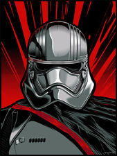 First Order Captain Phasma Force Awakens Star Wars Silk Screen Postmodern Art