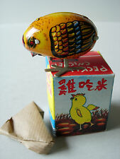 PECKING CHICKEN TIN LITHO WIND-UP TOY W/ BOX RED CHINA MS 006 BRAND-NEW NIB !!