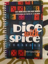 New Dice with Spice Cookbook Bunko Bunco Recipes Signed Paperback Food Menus