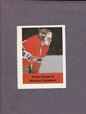 1974-75 Acme Loblaws Hockey Ken Dryden Goalie Montreal Canadiens
