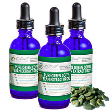 3 Green Coffee Bean Weight Loss Drops. Pharmaceutical Grade 500mg 3 -2oz Bottles
