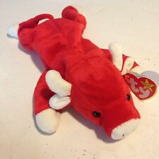 Ty Beanie Baby, SNORT The Bull, Retired and VERY RARE