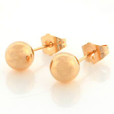 Free Shipping 18K Yellow Gold Filled Ball Womens Gold Stud Earrings,8mm