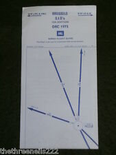 AVIATION CHART - BRUSSELS S.I.D's FLIGHT GUIDE - DEC 1975 - 43x50cm