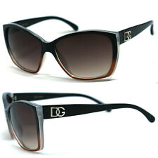 DG Womens Cat Eye Sunglasses -Two Tone Black & Brown DG175