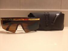 Y76 Vintage Gianni Versace Unisex Men's Womens Brown Lady Gaga Sunglasses & Case