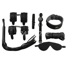 7Pcs Bondage Kit Set Adult Sex Tool Toy Bed Restraint Fetish Handcuff BDSM Black