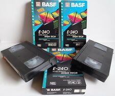5 gebrauchte (bespielte) VHS Casetten 1 x BASF E 200 + 3 x Sony E + 1 Scotch 240