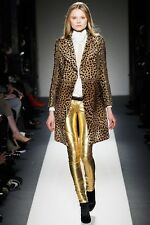 Balmain Metallic Runway Leather Skinny Pants Trousers Gold Jeans BNWT 10 FR 38