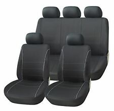 SPORTS PREMIUM SEAT COVER SET BLACK & GREY FOR TOYOTA YARIS HATCHBACK 06-11