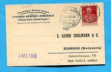 1° VOLO POSTALE MILANO - ZURIGO su GIUBILEO c.60 ISOLATO  (257189)