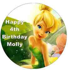 Tinkerbell Disney Cake Topper Personalised Edible Wafer Paper 7.5""