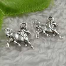 free ship 340 pieces tibet silver horse charms 15x14x2.5mm #4391