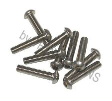 10-SS M6 X 30MM BH BUTTON SOCKET HEAD STAINLESS STEEL METRIC MACHINE SCREWS 6MM