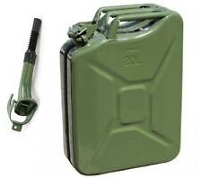 5 Gallon Jerry Can Gas Fuel Steel Tank Green Military NATO Style 20L Storage