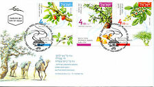 Israel 2017 FDC Aromatic Plants Frankincense Myrrh 3v Set Cover Flowers Stamps