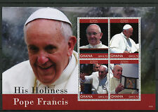 Ghana 2014 MNH His Holiness Pope Francis 4v M/S II Popes Catholic Church