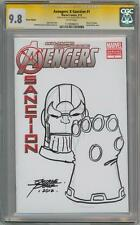 AVENGERS X-SANCTION #1 CGC 9.8 SIGNATURE SERIES GEORGE PEREZ THANOS SKETCH GOTG