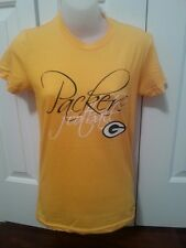 NFL Green Bay Packers Ladies Small Tee Shirt Yellow S Adult Women