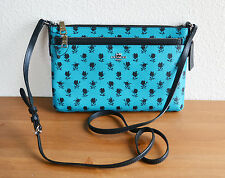 COACH F38159 CROSSBODY WITH POUCH BADLANDS FLORAL PRINT COATED CANVAS TURQUOISE