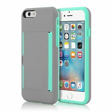 "Genuine Incipio Stowaway Case for iPhone 6 & 6s 4.7"" Dark Grey & Teal"