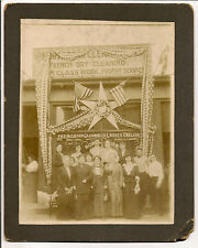 2 Vintage cabinet photos Tobacco Cigars French Dry Cleaning patriotism 4th July